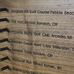 Using the CNC to make a map of the top 100 public golf courses
